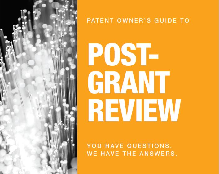PGR Patent Owner Cover Image